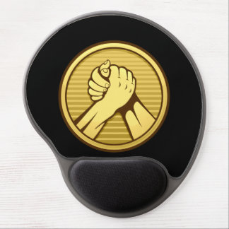 Arm wrestling Gold Gel Mouse Pad