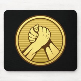 Arm wrestling Gold Mouse Pad