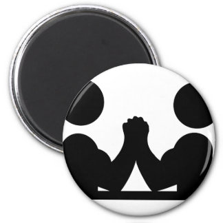 arm wrestling icon magnet