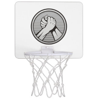 Arm wrestling Silver Mini Basketball Backboard