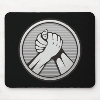 Arm wrestling Silver Mouse Pad