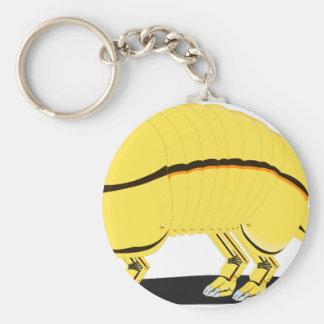 Armadillo Basic Round Button Keychain