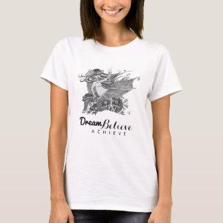 Armadillo Bat Girl | Dream Believe Achieve T-Shirt