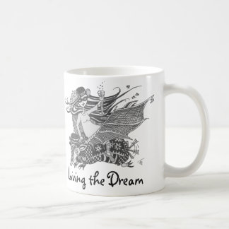 Armadillo Bat, White, Living the Dream Coffee Mug