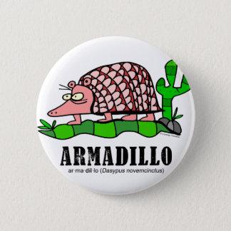 Armadillo by Lorenzo 2 Inch Round Button