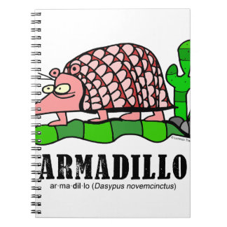 Armadillo by Lorenzo Spiral Notebook