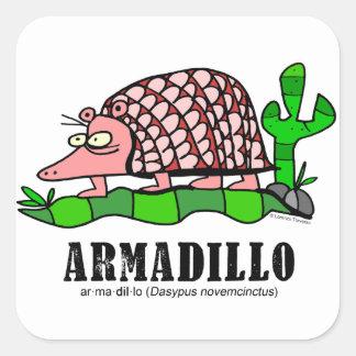 Armadillo by Lorenzo Square Sticker