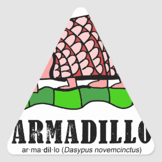 Armadillo by Lorenzo Triangle Sticker