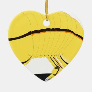 Armadillo Ceramic Heart Ornament