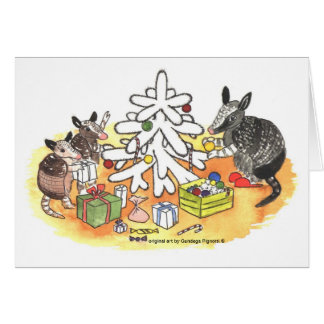 Armadillo Christmas Card
