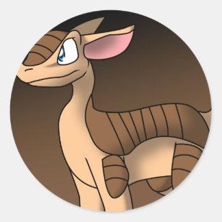 Armadillo Dragon Sticker