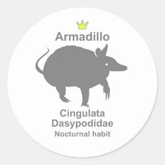 Armadillo g5 round sticker