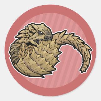 Armadillo Girdled Lizard Round Sticker