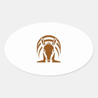 Armadillo Isolated Retro Oval Sticker