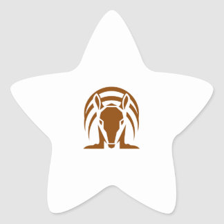Armadillo Isolated Retro Star Sticker