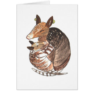Armadillo Mother with her Baby Card