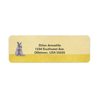 Armadillo Return Address Labels