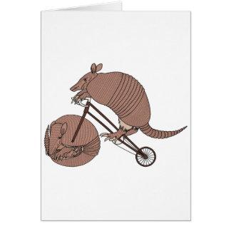 Armadillo Riding Bike With Armadillo Wheel Card