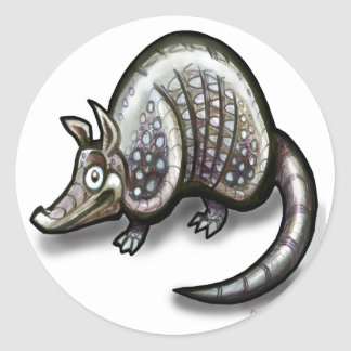 Armadillo Round Sticker
