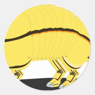 Armadillo Round Sticker