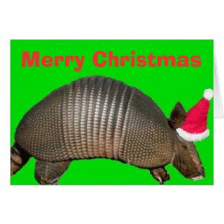Armadillo Santa, Merry Christmas Card