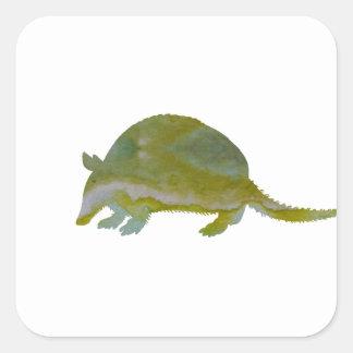 Armadillo Square Sticker