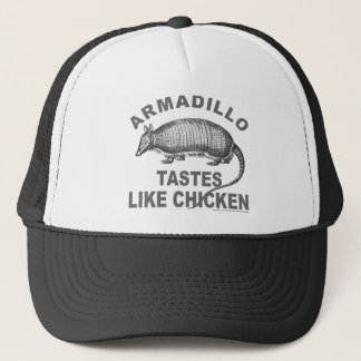 ARMADILLO TASTES LIKE CHICKEN TRUCKER HAT