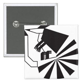 Armadillo (Tribal Designs) 2 Inch Square Button