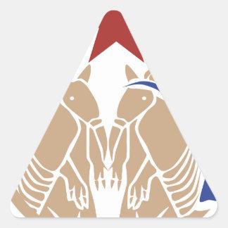 Armadillo Wedding - Texas Love Triangle Sticker