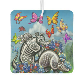 Armadillos Bluebonnets and Butterflies Car Air Freshener