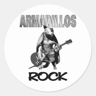 Armadillos Rock Round Sticker
