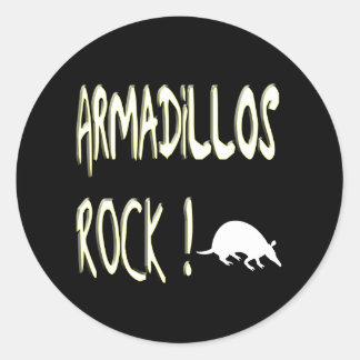 Armadillos Rock! Sticker