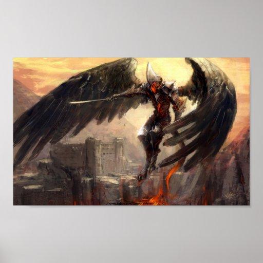 Armageddon Angel on Field of Battle Poster