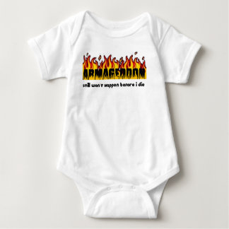 Armageddon still won't happen before I die Baby Bodysuit