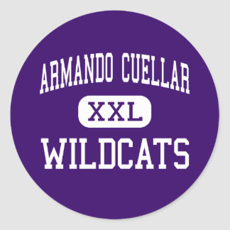 Armando Cuellar - Wildcats - Junior - Weslaco Round Sticker