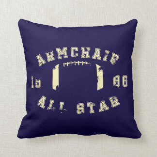 Armchair All Star Football Blue Throw Pillow