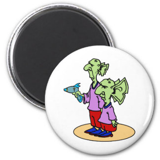 Armed Aliens 2 Inch Round Magnet