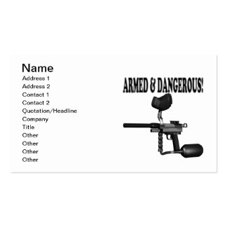 Armed And Dangerous Double-Sided Standard Business Cards (Pack Of 100)