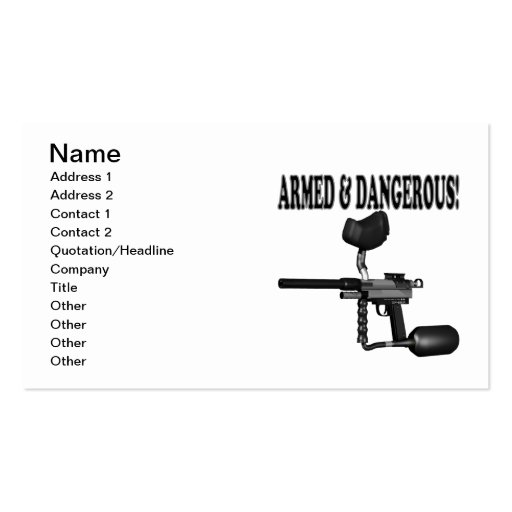 Armed And Dangerous Business Cards