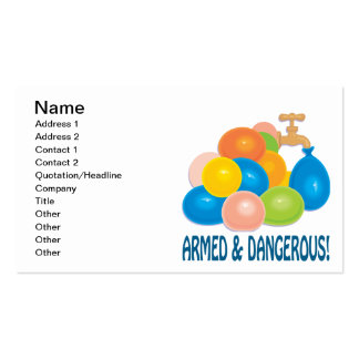 Armed And Dangerous Business Card Template