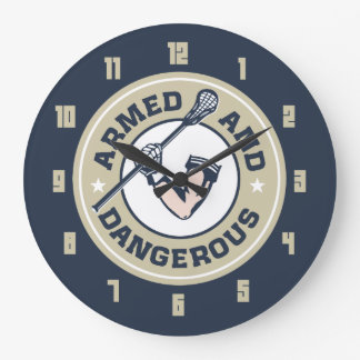 Armed and Dangerous Lacrosse clock