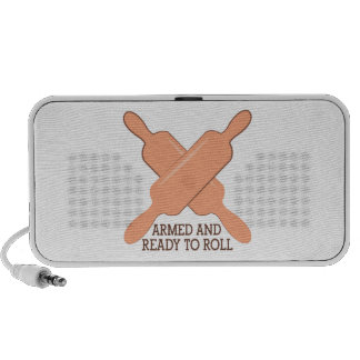 Armed And Ready To Roll Laptop Speaker