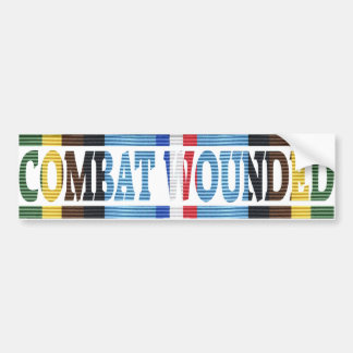 Armed Forces Exped. Medal Combat Wounded Sticker Car Bumper Sticker