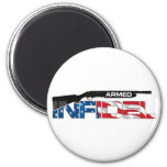 ARMED INFIDEL 2 INCH ROUND MAGNET
