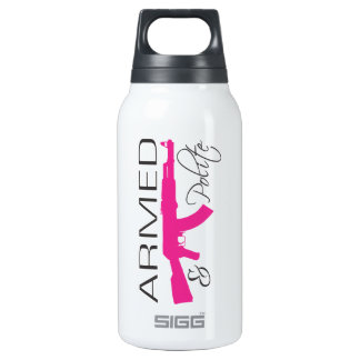 Armed & Polite, Thermo (0.3L), White Insulated Water Bottle