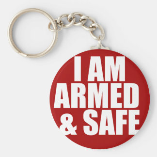 Armed & Safe Key Chain