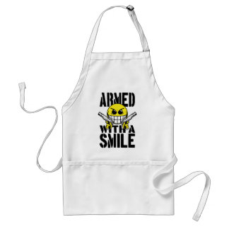 Armed with a smile aprons
