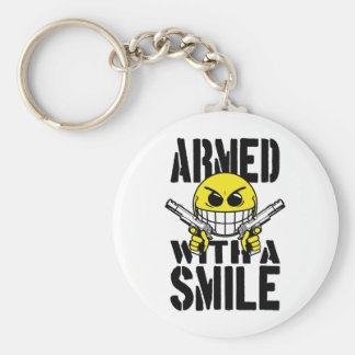 Armed with a smile keychain