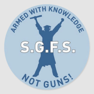 Armed with Knowledge Classic Round Sticker
