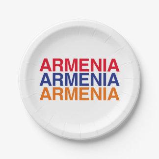 ARMENIA 7 INCH PAPER PLATE
